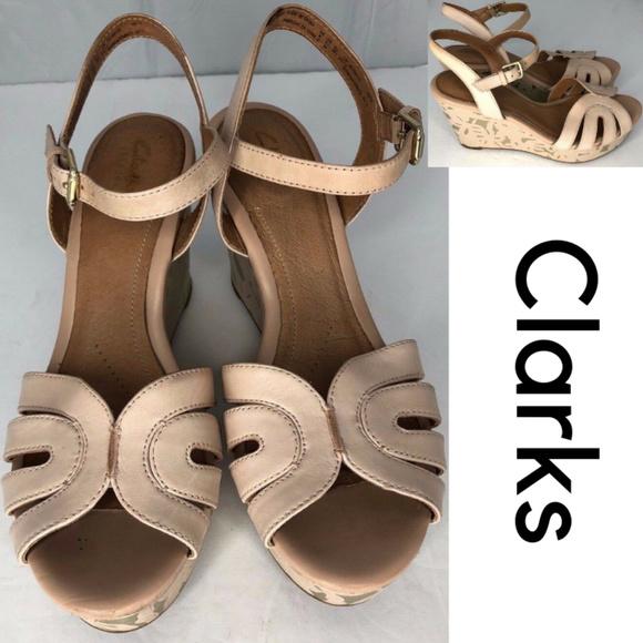 1e3fa64d4ef1 Clarks Shoes - Clarks Artisan Wedge Heel Sandal Shoes
